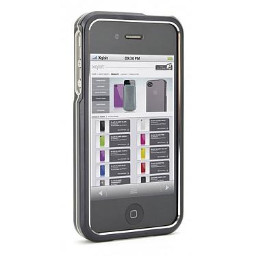xqisit iVest Solid Noir Coque pour iPhone 4 / iPhone 4S
