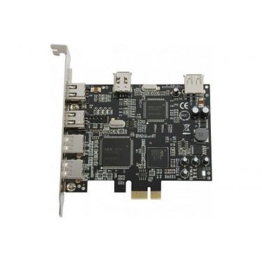 Carte contrôleur PCI-Express avec 4 ports USB 2.0 et 3 ports FireWire 400