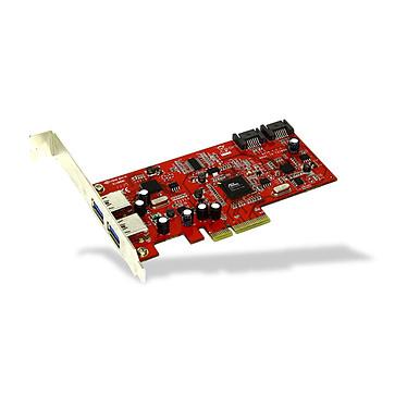 Carte contrôleur SATA 6Gb/s 2 ports internes & USB 3.0 2 ports externes - PCI-Express 4x
