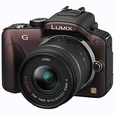 Panasonic Lumix DMC-G3 Chocolat avec objectif VARIO 14-42mm Appareil photo hybride avec objectif LUMIX G VARIO 14-42mm / F3.5-5.6 ASPH. / MEGA O.I.S