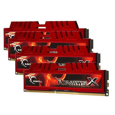 G.Skill RipJaws X Series 16 Go (4 x 4 Go) DDR3 2133 MHz CL9 Kit Quad Channel DDR3 PC3-17066 - F3-2133C9Q-16GXL (garantie à vie par G.Skill)