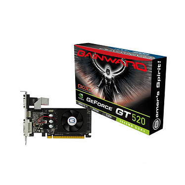 Gainward GeForce GT 520 2GB 2 Go DVI/HDMI - PCI Express (NVIDIA GeForce avec CUDA GT 520)