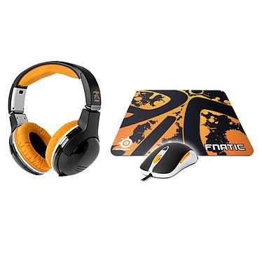 SteelSeries FNATIC Gaming Pack Souris laser Sensei + casque-micro 7H + tapis QcK+