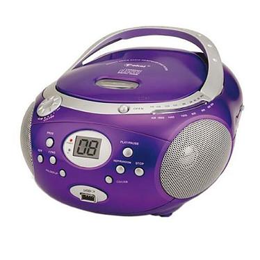 Tokai Boombox LRL-1913PP Violet Radio CD MP3 avec port USB