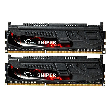 G.Skill Sniper 16 Go (2 x 8 Go) DDR3 2400 MHz CL11 Kit Dual Channel DDR3 PC3-19200 - F3-2400C11D-16GSR