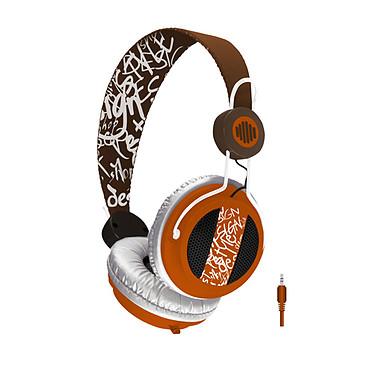 B-Move Casque Soundwave Marron & Orange