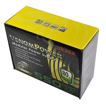 Akasa Venom Power 550 Alimentation modulaire 550W ATX12V v2.3