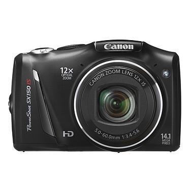 Avis Canon PowerShot SX150 IS Noir + 6 piles Varta Max Tech AA