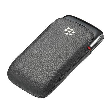 BlackBerry Leather Pocket Noir
