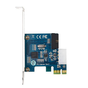 Carte PCI-Express 2.0 x1 avec connecteur interne USB 3.0 (20 broches)