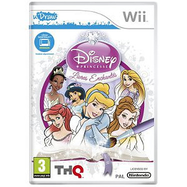 Disney Princesse : Livres enchantés Udraw + Tablette uDraw (Wii)  Disney Princesse + Tablette uDraw (Wii)