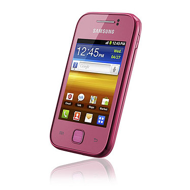 "Samsung Galaxy Y GT-S5360 Rose Smartphone 3G+ avec écran tactile 3"" sous Android"