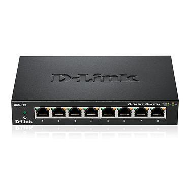 D-Link DGS-108 Switch Gigabit 8 ports 10/100/1000 Mbps - Boîtier métal
