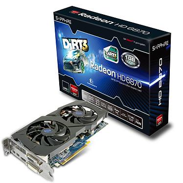 Sapphire Radeon HD 6870 OC 1 Go + Dirt 3 1 Go HDMI/Dual DVI/DisplayPort - PCI Express (AMD Radeon HD 6870)