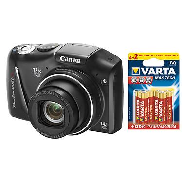 Canon PowerShot SX150 IS Noir + 6 piles Varta Max Tech AA