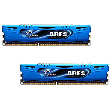 G.Skill Ares Blue Series 8 Go (2 x 4 Go) DDR3 2400 MHz CL11 Kit Dual Channel DDR3 PC3-19200 - F3-2400C11D-8GAB