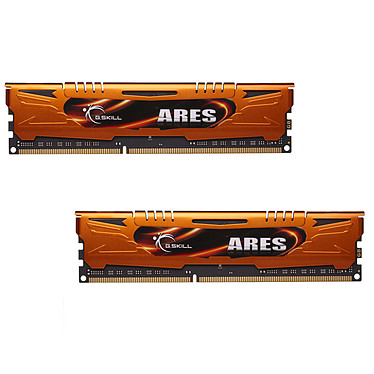 G.Skill Ares Orange Series 16 Go (2 x 8 Go) DDR3 1600 MHz CL10 Kit Dual Channel DDR3 PC3-12800 - F3-1600C10D-16GAO (garantie à vie par G.Skill)