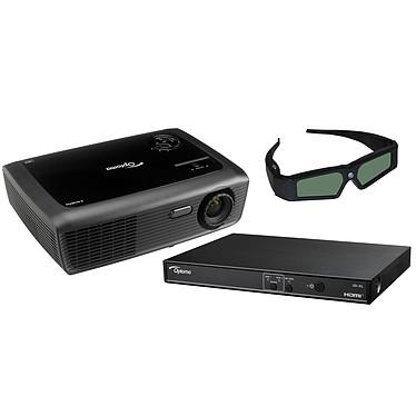Optoma DH7-XL Vidéoprojecteur DLP WXGA 3D Ready 2500 Lumens + Boîtier adaptateur 3D + Lunettes 3D