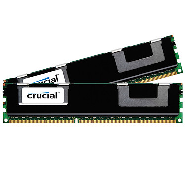 Crucial 8 Go (2 x 4 Go) DDR3 1333 MHz CL9 ECC Registered Kit Dual Channel DDR3 PC10600 - CT2KIT51272BB1339 (garantie à vie par Crucial)