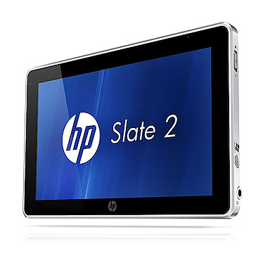 "HP Slate 2 - A6M60AA Tablette Internet - Intel Atom Z670 2 Go SSD 64 Go 8.9"" LED Tactile 3G/Wi-Fi N/Bluetooth Webcam Windows 7 Professionnel 32 bits"