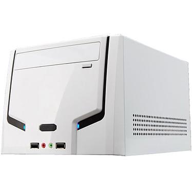 Smartteck Boîtier CUBE ST-A9089.BW mini-ITX - Blanc Boîtier mini-ITX avec alimentation 150W