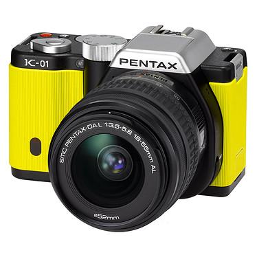 Pentax K-01 Jaune + Objectif 18-55 mm