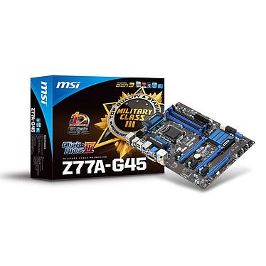 MSI Z77A-G45 Carte mère ATX Socket 1155 Intel Z77 Express - SATA 6Gb/s - USB 3.0 - 2x PCI-Express 3.0 16x + 1x PCI-Express 2.0 16x