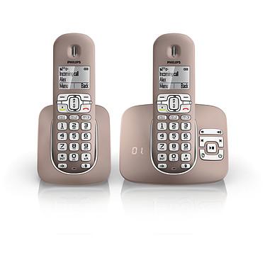Philips XL5952 Champagne Téléphone DECT sans fil avec répondeur et combiné supplémentaire (version française)