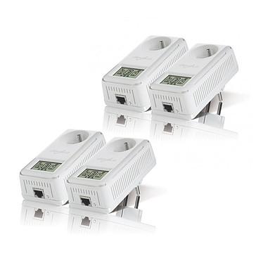 Devolo 200 AVsmart+ Starter Kit x 2 Kit de 4 adaptateurs CPL 200 Mbps avec afficheur du débit