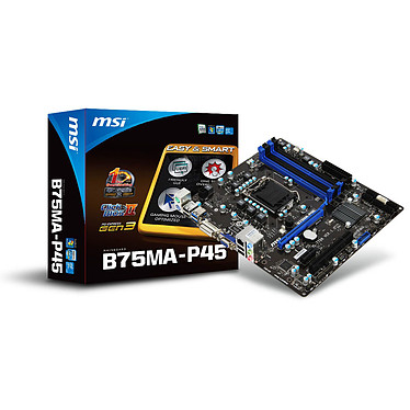 MSI B75MA-P45 Carte mère micro-ATX Socket 1155 Intel B75 Express - SATA 6Gb/s - USB 3.0 - 1x PCI-Express 3.0 16x