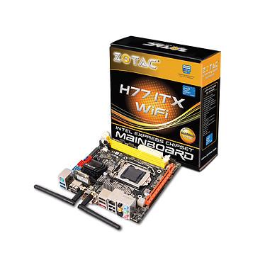 ZOTAC H77-ITX WiFi Mini ITX Carte mère Mini ITX Socket 1155 Intel H77 Express - HDMI - SATA 6 Gbps + mSATA - USB 3.0 - 1x PCI-Express 3.0 16x
