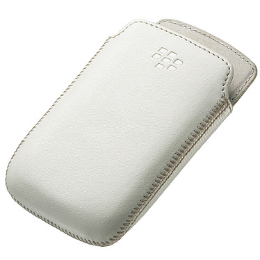 BlackBerry Leather Pocket Blanc (ACC-48097-202)