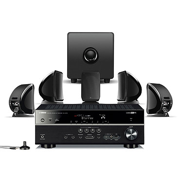 Yamaha RX-V573 Noir + Focal Sib & Cub 2 Jet Black Ampli-tuner Home Cinéma 7.1 DLNA 3D-Ready avec HDMI 1.4 et Décodeurs HD Airplay + Pack d'enceintes 5.1
