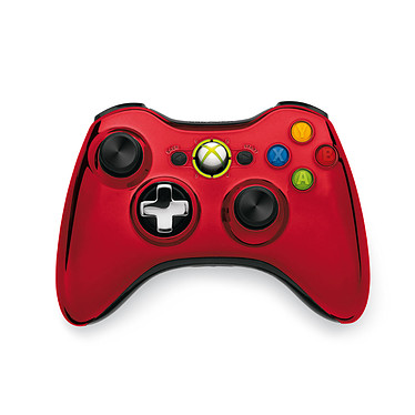 Microsoft Wireless Controller Chrome Series Rouge (Xbox 360)