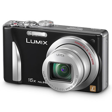 Panasonic Lumix DMC-TZ25 Noir Appareil photo 12 MP - Zoom ultra grand-angle 16x - Vidéo Full HD 1080p
