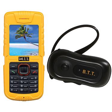 M.T.T Bazic V2 Jaune + Oreillette Bluetooth B.T.T.