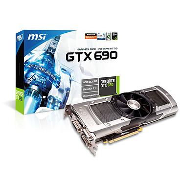 MSI N690GTX-P3D4GD5 4 Go 4096 Mo Triple DVI/Mini-DisplayPort - PCI Express (NVIDIA GeForce avec CUDA GTX 690)