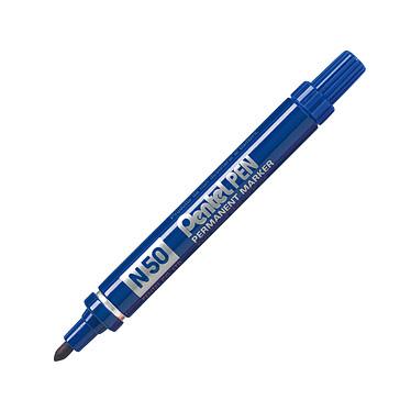 PENTEL Marcador N50 azul Marcador permanente azul con punta de bala 4,3 mm