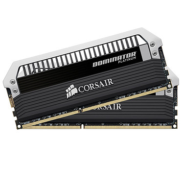 Corsair Dominator Platinum 16 Go (2 x 8 Go) DDR3 2400 MHz CL11 Kit Dual Channel RAM DDR3 PC3-19200 - CMD16GX3M2A2400C11 (garantie à vie par Corsair)