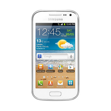 "Samsung Galaxy Ace II GT-I8160 Blanc Smartphone 3G+ avec écran tactile 3.8"" sous Android 2.3"