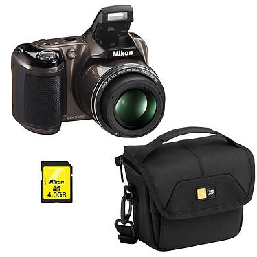 Nikon Coolpix L810 Gris + Case Logic PVL-204 + Nikon SD 4 Go