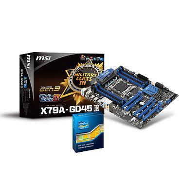 MSI X79A-GD45 (8D) + Intel Core i7-3820