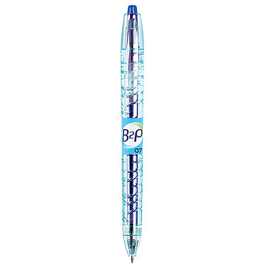 PILOT Begreen B2P bleu pointe 0,7mm Stylo roller rétractable à encre gel pointe medium