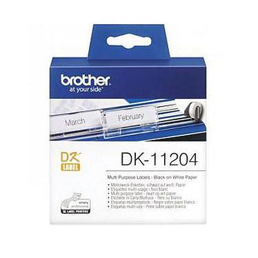 Brother DK-11204 Etiquettes multi-usage - 17 x 54 mm (pack de 400)