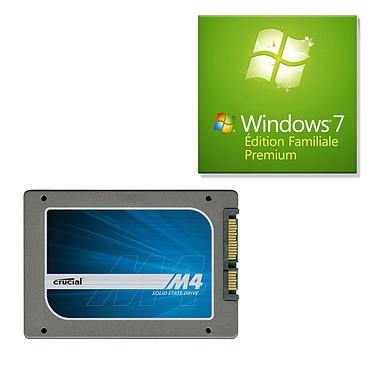 "Crucial M4 64 Go + Windows 7 Premium SSD 64 Go 2.5"" Serial ATA 6Gb/s + Microsoft Windows 7 Édition Familiale Premium SP1 OEM 64 bits (français)"