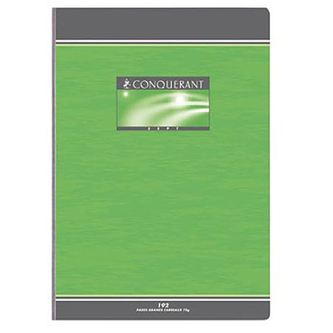 Conquérant 7 Cahier brochure 192P A4 quadrillé 5 x 5 mm