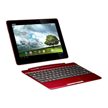 "ASUS Transformer Pad TF300T-1G092A Rouge + dock mobile Tablette Internet - NVIDIA Tegra 3 T30L 1 Go SSD 16 Go 10.1"" LED Tactile Wi-Fi N/Bluetooth Webcam Android 4.1"