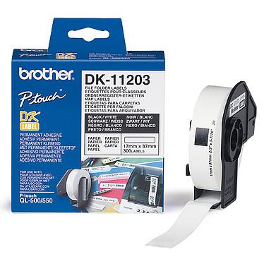 Brother DK-11203 Etiquetas para clasificadores - 17 x 87 mm (rollo de 300)