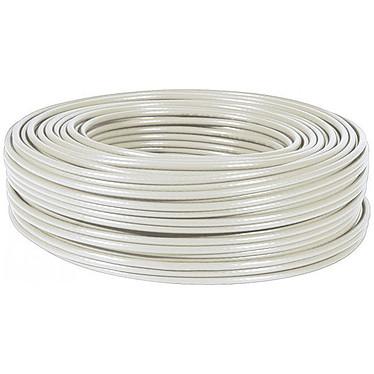 Cable monohebra RJ45 categoría 6 FTP rollo de 100 m (beis)