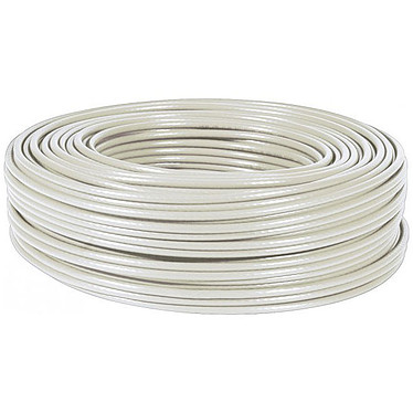 Cable multihebra RJ45 categoría 6 UTP rollo de 50 m (beis)